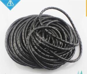 Gaine Spirale Diametre 6mm Longueur 15 Metres Noir électrique Câbles Fils Cadeau IdéAl Pour Toutes Les Occasions
