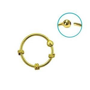 c0e83d728 Nose Ring Hoop 18KT Gold Plated 3/8