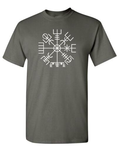 S to 6XL Norse Odin Viking Ragnarok Thor Valhalla VEGVISIR T-shirt