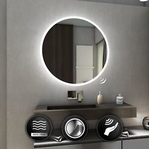 Image Is Loading Delhi Round Illuminated Led Bathroom Mirror Wall Mirrors