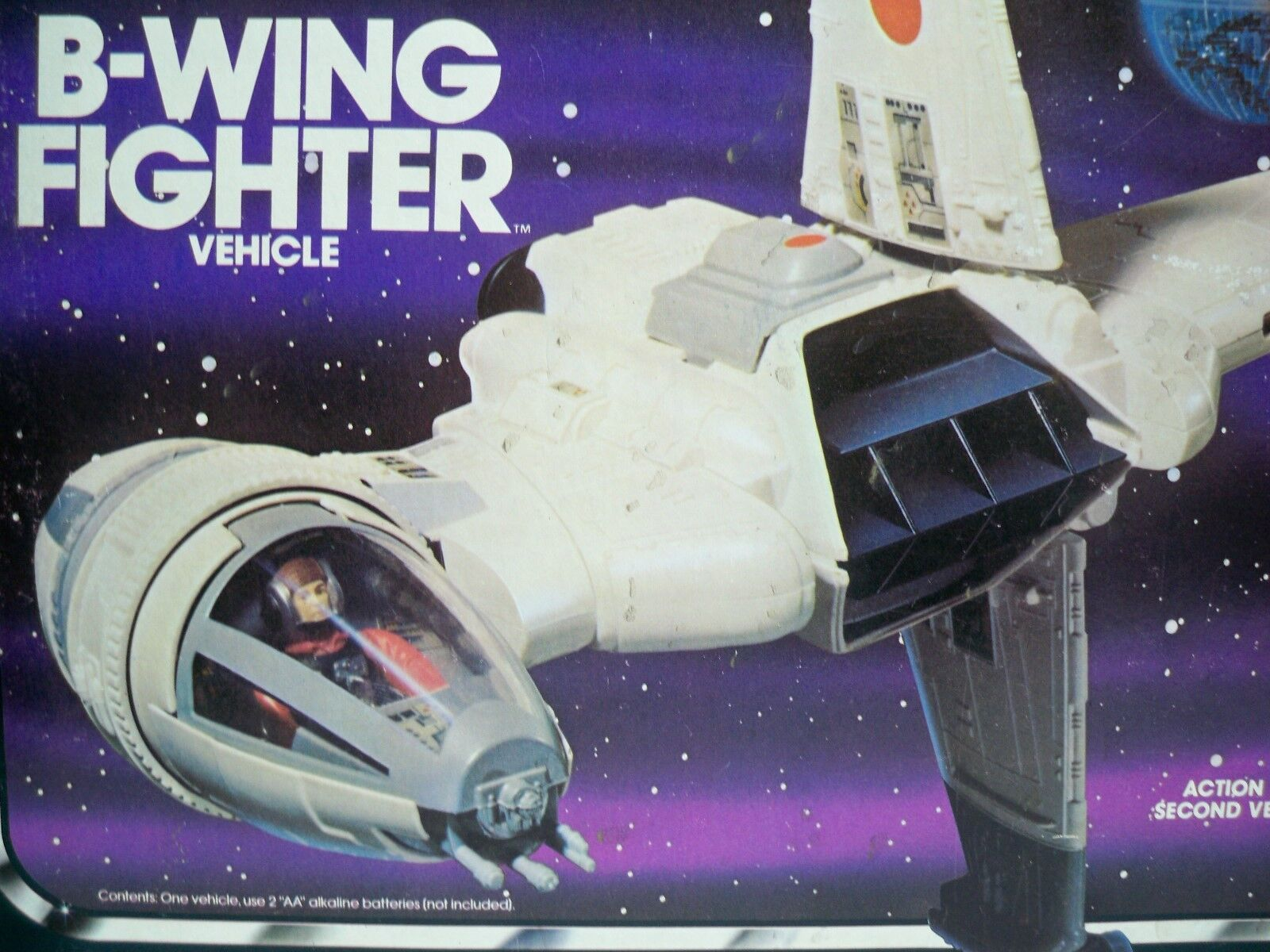 K1705891 B-WING FIGHTER 100% COMPLETE IN BOX W INSTRUCTIONS STAR WARS ORIGINAL