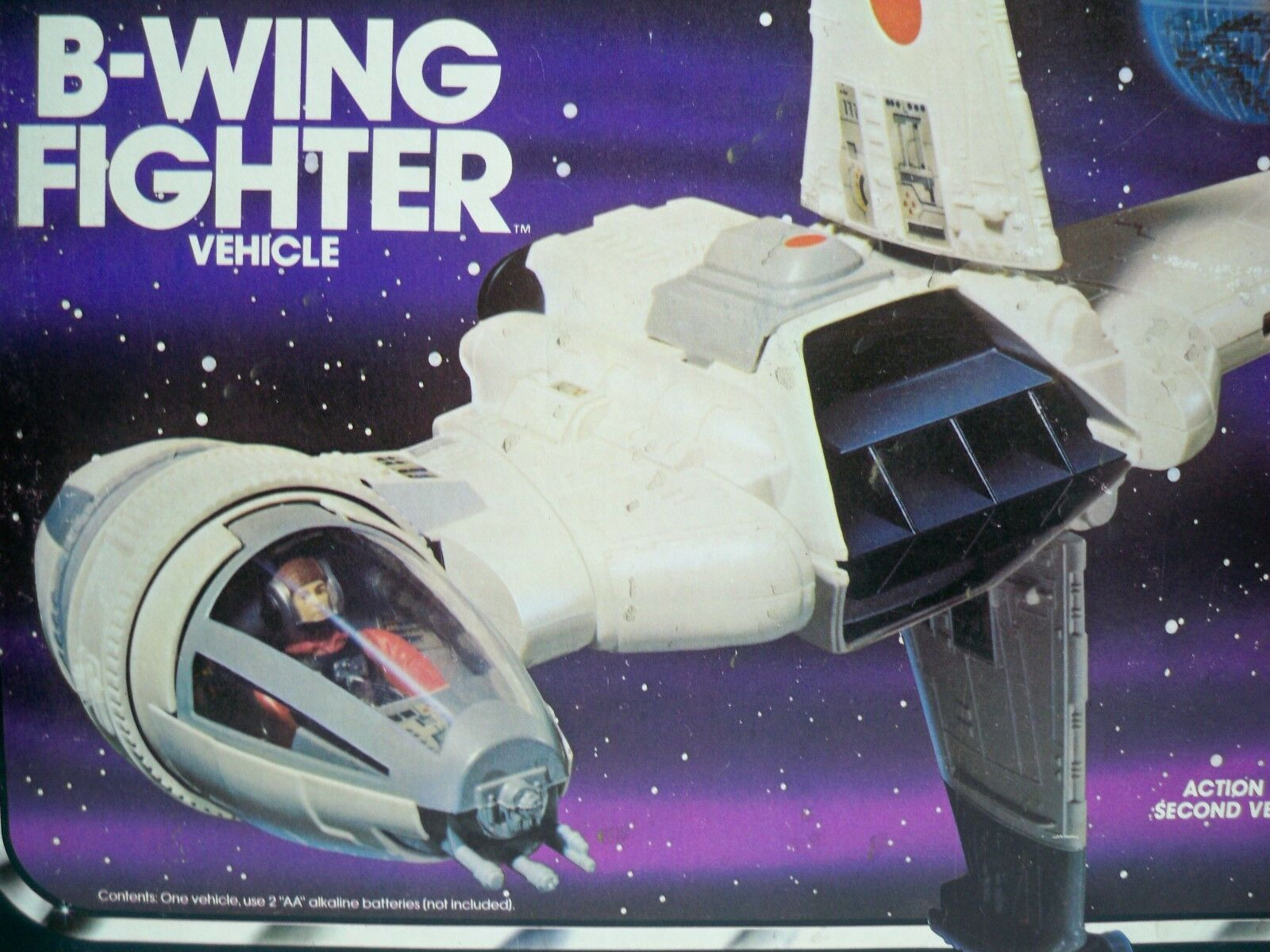 K1705891 B-WING FIGHTER 100% 100% 100% COMPLETE IN BOX W INSTRUCTIONS STAR WARS ORIGINAL 080392