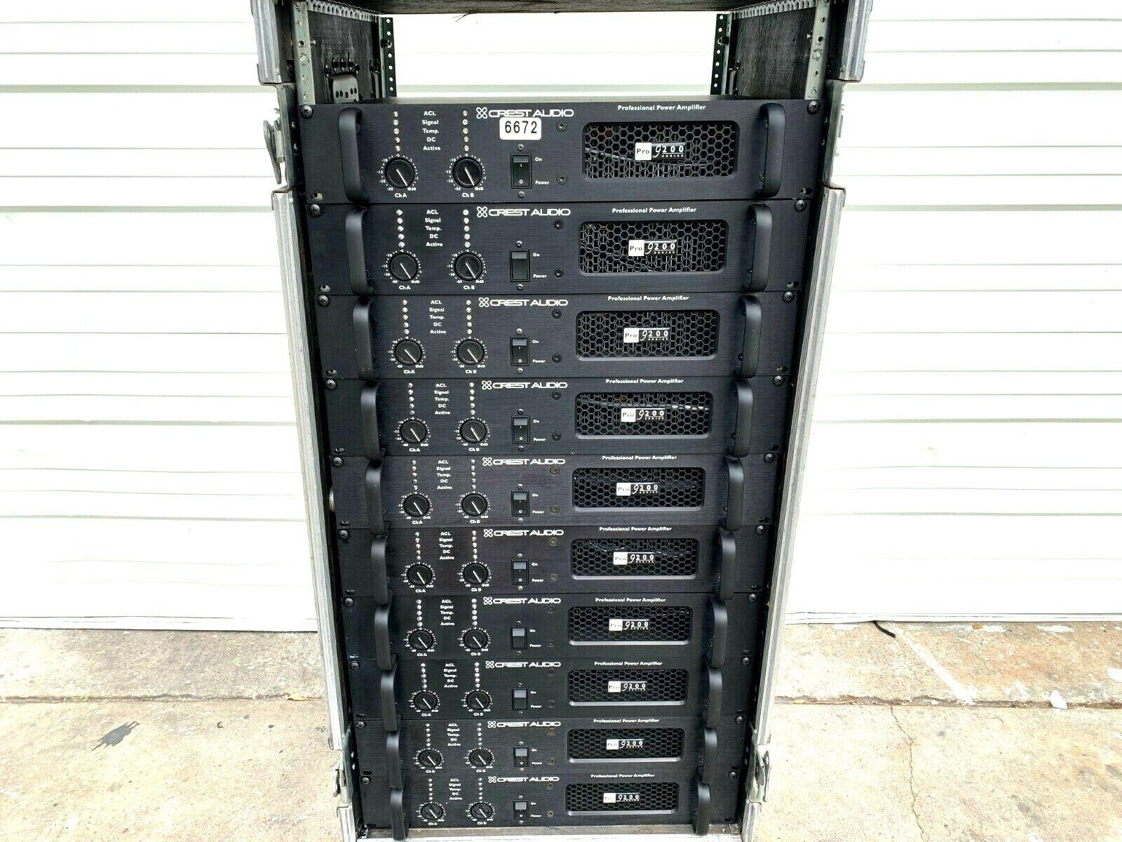 CREST AUDIO PRO 9200 PROFESSIONAL POWER AMPLIFIER W POWER CORD  6672 (ONE)