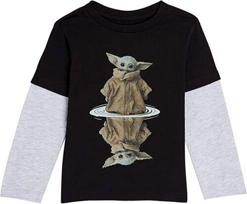 noir et gris pour enfants et adolescents Star Wars Baby Yoda Garçons Haut à manches longues