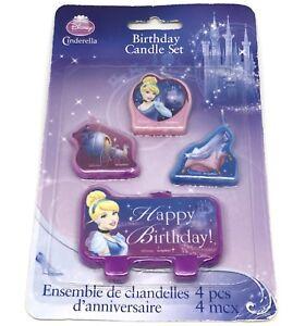 Disney-Princess-Cinderella-Birthday-Candles-Set-Of-4-Brand-New