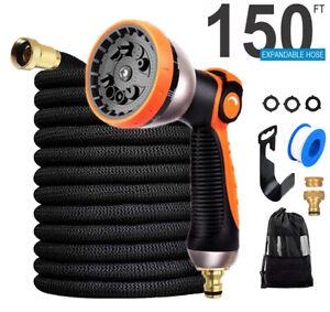 Expandable Flexible Hose Extra Long Pipe Garden Hose Spray Gun Setting 100-150FT