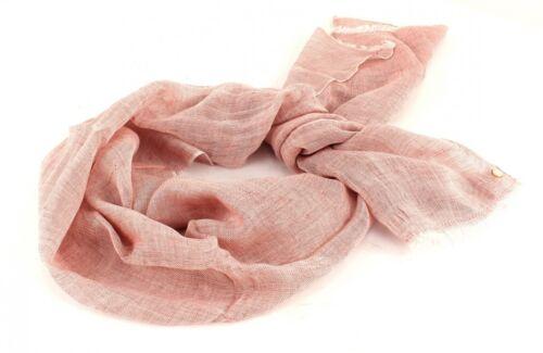 ESPRIT Structure Linen Scarf Schal Tuch Halstuch Leinen Damen Lila Dark Old Pink