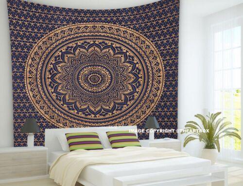 Indian Mandala Wall Hanging Bohemian Hippie  Cotton Dorm Decor Queen Tapestry