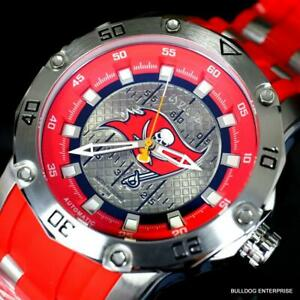 Invicta-NFL-Pro-Diver-Scuba-Tampa-Bay-Buccaneers-Automatic-Red-50mm-Watch-New
