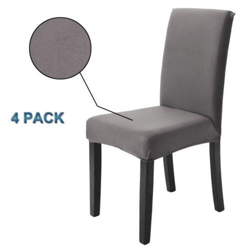 4x Abdeckung Stuhlhusse Charles Stretch Universal Stuhlüberzug Stuhlbezug Hussen