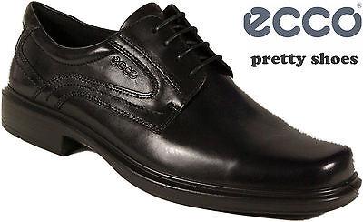 ECCO Schuhe Halbschuhe Business schwarz Mod. Helsinki Gummisohle echt Leder NEU | eBay