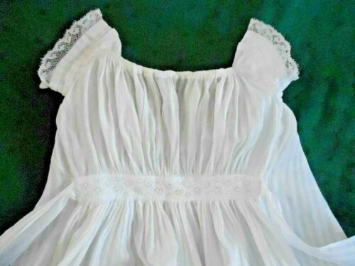 19TH, CENTURY LONG BABY DRESS, WHITE COTTON WITH T