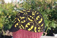 Cycling Cap Batman Logo 4 Panels 100% Cotton One Size & Any Size Handmade