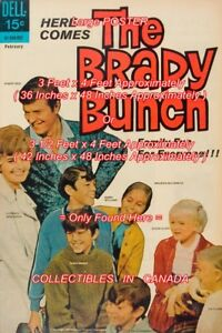 BRADY-BUNCH-1970-1-TV-Show-HERE-COMES-1970-039-s-POSTER-2-Sizes-4-FEET-LONG
