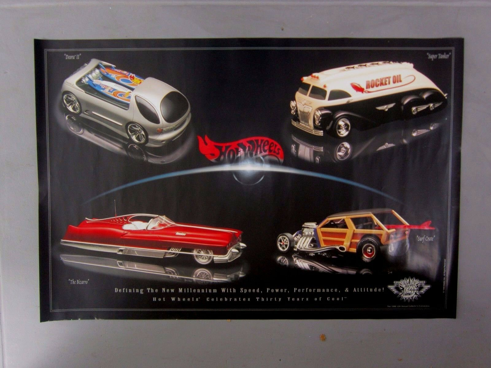 HOT WHEELS 1998 POSTER ANN Surf Crate Deora II 30 YEARS 1998 DIE CAST Convention