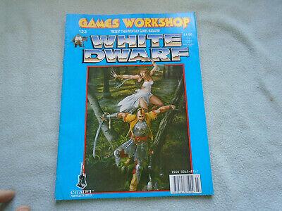Costruttivo Giochi Di Ruolo Rivista White Dwarf Numero 123 Marzo 1990-mostra Il Titolo Originale Attivando La Circolazione Sanguigna E Rafforzando I Tendini E Le Ossa