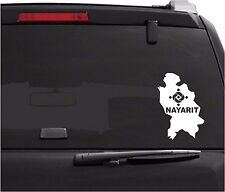 """Car Decals. Wall Decal. Laptop Decal... Mapa Nayarit, Mexico. 8"""" H x 5.5"""" W"""