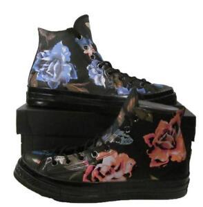 f8d93d6df5af Converse Chuck Taylor All Star 70 s Hi Top Black Leather Flowers ...