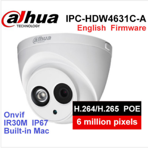 Details about Dahua IPC-HDW4631C-A HD 6MP PoE Built-in Mic IR Dome Network  Security IP Camera