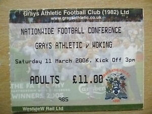 Tickets-Nationwide-Football-Conference-GRAYS-ATHLETIC-v-WORKING-11-March-2006