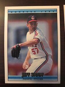 1992 Donruss Jeff Shaw Cleveland Indians 595