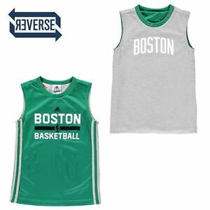 Titre Détails Junior Giletbasket Ans Afficher Adidas JerseyTaille910 D'origine Nba Réversible Ball Sur Boston Le TJFc3lK1