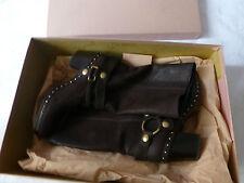 miu miu Stiefel MIU MIU Harness Boots Stiefel Schuhe Reiterlook CAPRA ANTIC