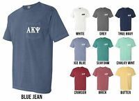 Alpha Kappa Psi Business Fraternity Letters Comfort Colors Pocket Shirt -