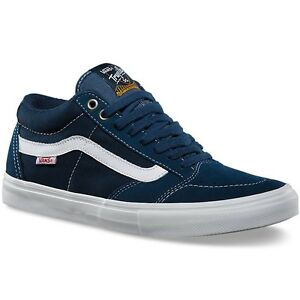 e42aaba293 Vans TNT SG WASHED CANVAS NAVY Trujillo Men s Classic Skate Shoes ...
