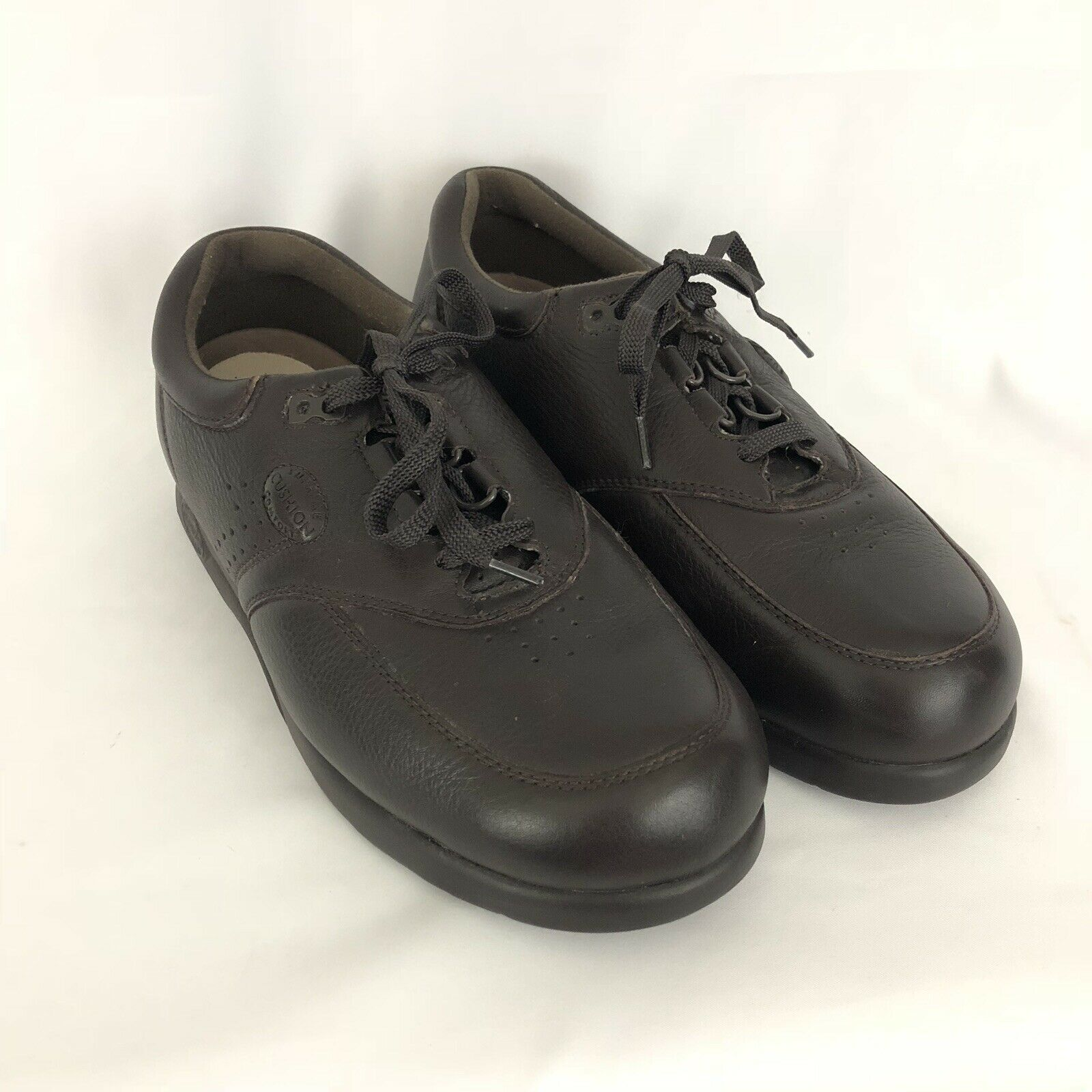 Supremes Soft Spot Mens Brown Lace Up 350000 Size 9WW Wide Comfort EUC SH413