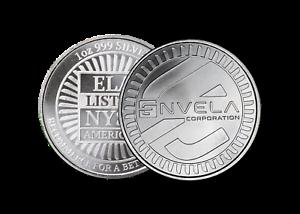 1-oz-Envela-0-999-Silver-Round-ELA-NYSE-Symbol-Stamped