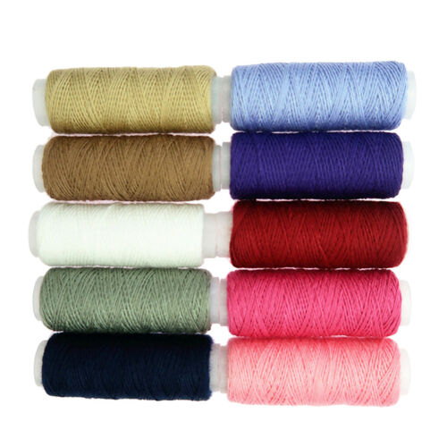 10Pcs//set Polyester Spools Sewing Threads Strong Stitch Button Jean Repair