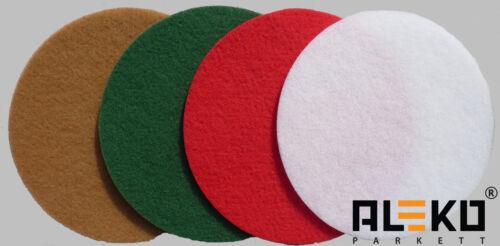 Superpad Ø 406mm Schleifpad Polierpad Reinigungspad Parkett rot grün beige weiß