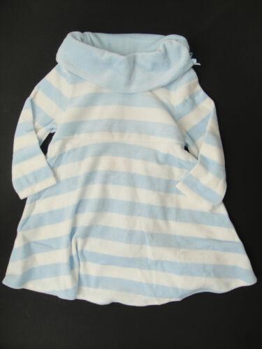 Gymboree NWT GIRLS BEST FRIEND Stripe Dress warm cozy lt blue white 2 2T 3 3T 4