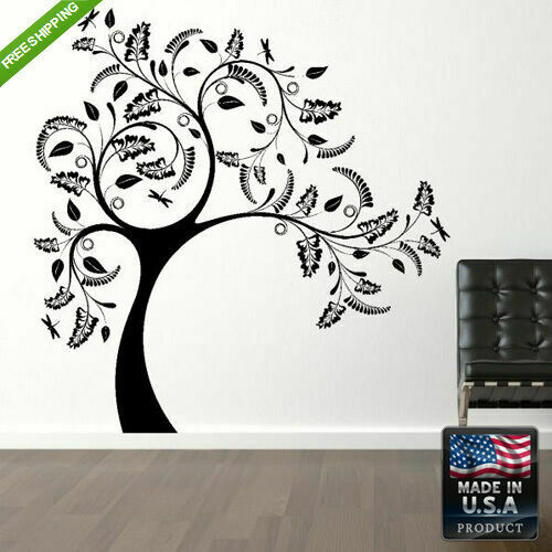 Wall Vinyl Decal Mural Sticker Beautyfull Bedroom Design Tree Kids Z150