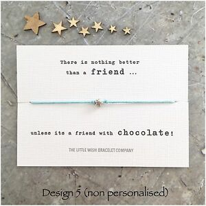 Image Is Loading FRIENDS Wish Bracelet With CUTE QUOTES Friendship Best