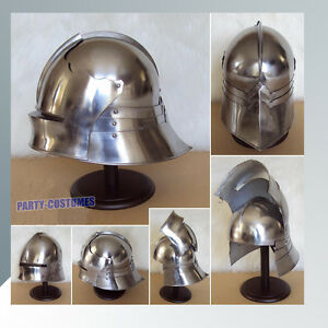 Details about MEDIEVAL GERMAN SALLET HELMET GOTHIC CLOSE HELM RE-ENACTMENT  ROLE PLAY COSTUME