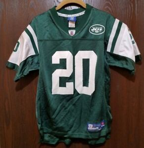 4d9a5cb78 Reebok Green Thomas Jones  20 New York Jets Football Jersey Youth ...