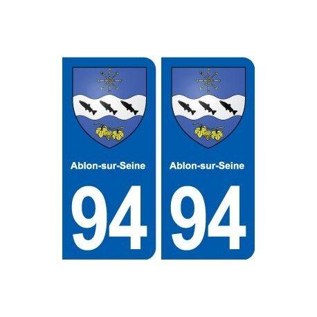 94 Ablon-sur-Seine  blason autocollant plaque stickers ville droits