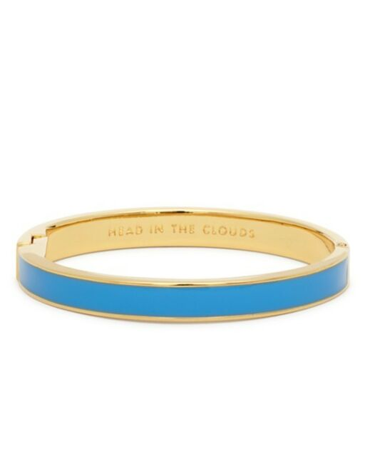 NWT $48 Kate Spade New York Head in the Clouds Blue Idiom Bangle Great GIFT WOW