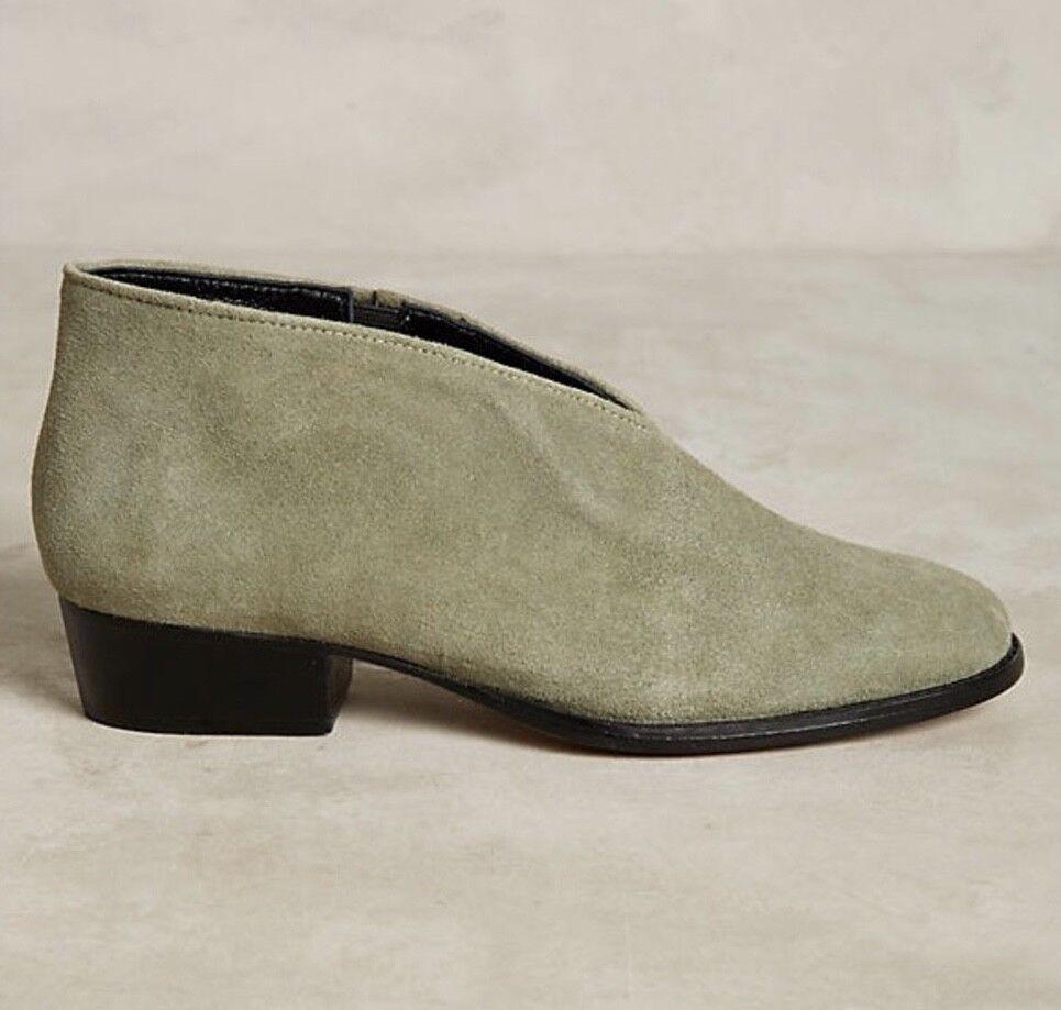 NEW Rachel Comey Grün Grün Grün Suede Slip In Ankle schuhe Stiefelie Stiefel 7 1616c6