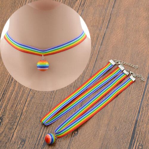 Rainbow unisexe Coupe du Monde boule Colliers Bijoux fans Gay Pride jeu les colliers