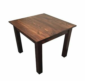 Smooth Top Mahogany Farm Table (Rustic Harvest Farmhouse Kitchen Dinning Table)