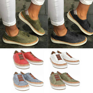 Slide-Hollow-Out-Shoes-Round-Toe-Women-Flat-Heel-Sneakers-Casual-Athletic-Shoes
