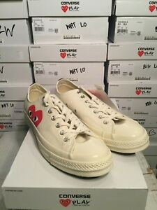 Details about CONVERSE X COMME DES GARCONS PLAY Chuck Taylor 70 Low White Mens Sz 3 11 150207C