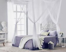 Post Bed Canopy Mosquito Net Full Queen King Size Netting Bedding 4 Corner White & TMS 4 (four) Corner Post Bed Black Canopy Mosquito Net Full Queen ...