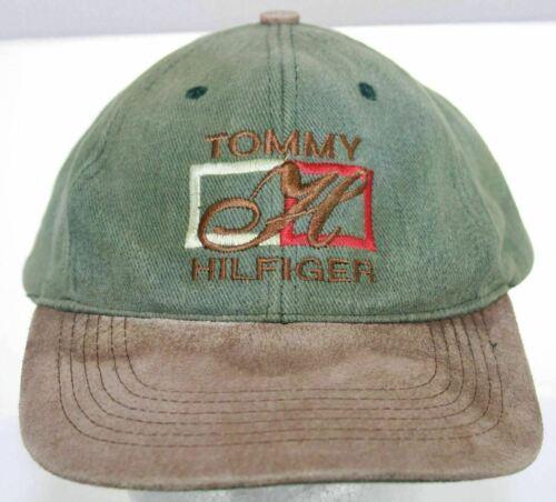 Vintage 1980s Tommy Hilfiger Snapback Cap Suede Bi