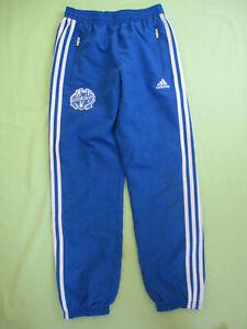 Détails sur Pantalon Adidas Olympique Marseille OM Survetement Bleu Enfant 11 12 ans