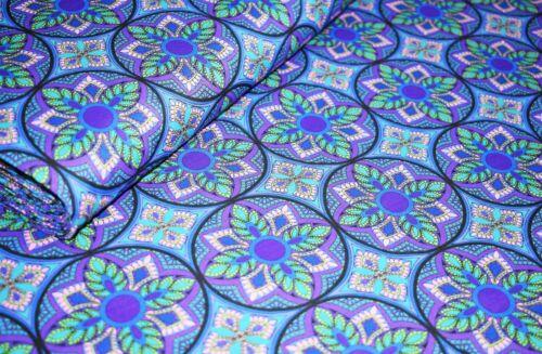 100/% Cotton Lawn Retro Leaf Cotton Lawn Printed Dress Fabric,3 Colours 58/' wide