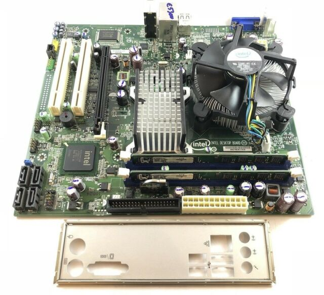 Intel DG41RQ socket LGA 775 Motherboard with Pentium E5300 2.6ghz aand 4GB RAM